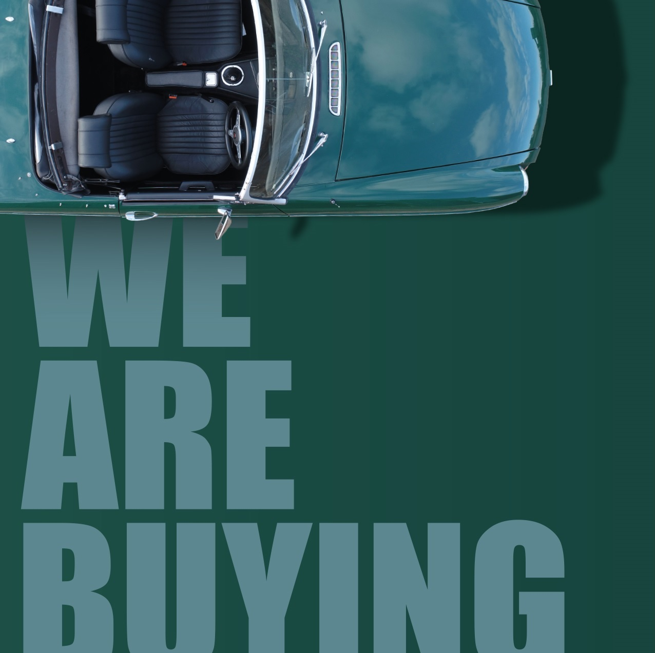 We are buying classic cars