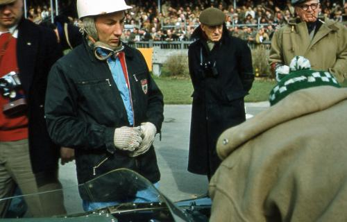 Stirling Moss before a race at Goodwood