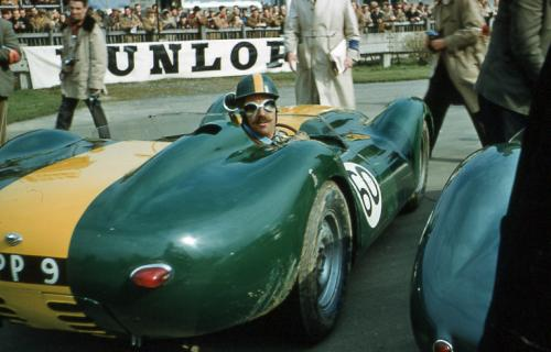 Archie Scott-Brown in his Lister-Jaguar