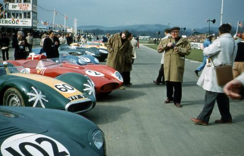The Le Mans style start at Goodwood 1958