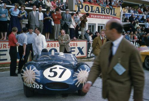 Jaguar D-Type at Le Mans 1958