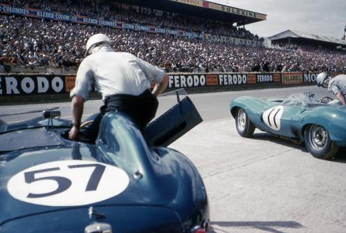 The start of the 1958 Le Mans Race